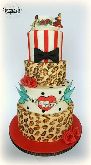 Rockabilly Wedding Cake - Cake by Spongecakes Suzebakes