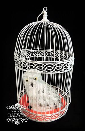 Hedwig from Harry Potter - Cake by Raewyn Read Cake Design