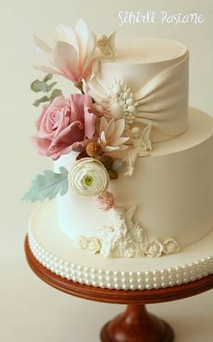 Wedding Cake with Angels - Cake by Sihirli Pastane