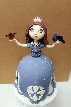 Sofia The First Cake and Cookies  - Cake by Komsu Atolye