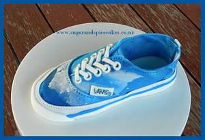 Vans Denim Shoe  - Cake by Mel_SugarandSpiceCakes