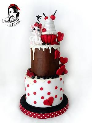 Sweet Cat&Dots - Cake by Ivon