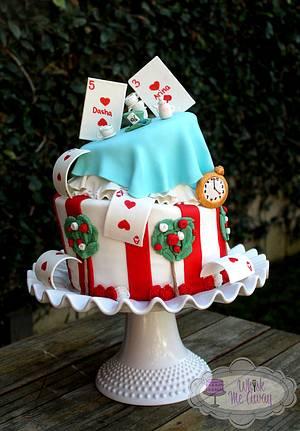 Topsy Turvy Alice In Wonderland cake - Cake by Sarah F
