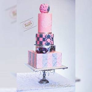 Modern wedding cake - Cake by SugarfanciesbyPooja