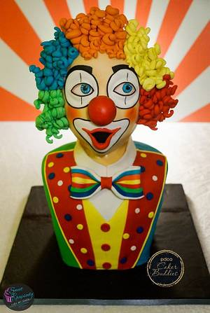 PDCA Caker Buddies Dessert Table Collaboration - Mr. Clown (Part 1 of 4 Circus Theme) - Cake by Sweet Rhapsody Cake Art Studio