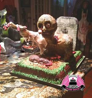 Zombie Halloween Cake - Cake by Cakes ROCK!!!