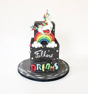 Sugar Art for Autism, Unicorn Cake :) - Cake by Meadowsweet Cakes