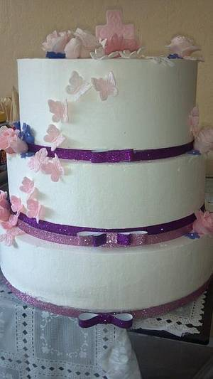 Ombre Butterfly - Cake by GABRIELA AGUILAR