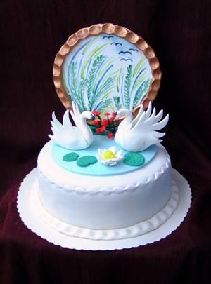 Swan cake - Cake by Ildikó Dudek