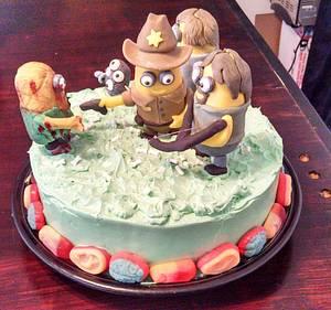 Walking Dead Minions - Cake by Cinnemin Gurl