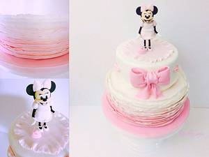 Minnie Mouse birthday  - Cake by Audrey