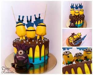 Minions Drip Cake - Cake by Torty Katulienka