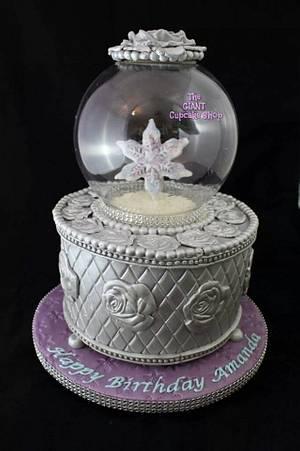 Silver Snow Globe - Cake by Amelia Rose Cake Studio