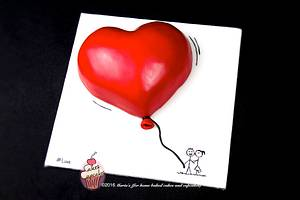 Valentine's Cake - Cake by Maria's