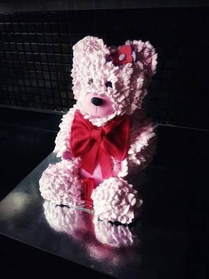 Teddy bear cake  - Cake by Nehasree Kulkarni