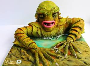 The Creature from The Black Lagoon - Cakenstein's Monsters - Cake by Ellen Redmond@Splendor Cakes