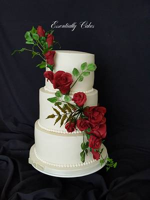 Rose Wedding - Cake by Essentially Cakes
