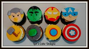 Avenger Cupcakes - Cake by Lior's Cake Designs