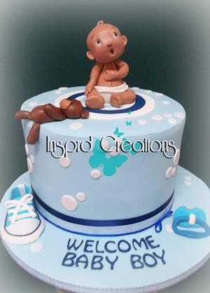 Baby Boy - Cake by Willene Clair Venter