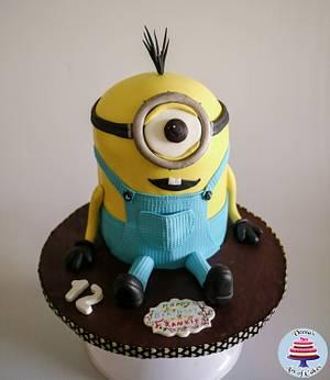 Kevin the Minion - Cake by Veenas Art of Cakes