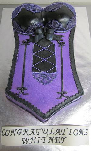 Lingerie cake - Cake by Steel Penny Cakes, Elysia Smith