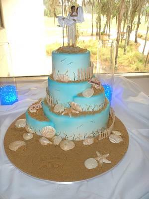 Beach Wedding Cake - Cake by Cakery Creation Liz Huber