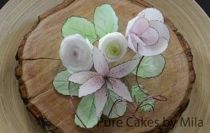 Waferpaper Flower Bouquet - Cake by Mila - Pure Cakes by Mila