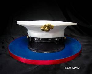 USMC Cover Cake - Cake by Otchcakes