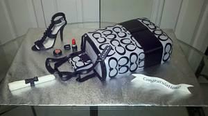 Coach Tote Graduation Cake - Cake by Kimberly Cerimele