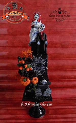FOREVER YOURS - Tickle My Bones Collaboration - Cake by Sweet Side of Cakes by Khamphet