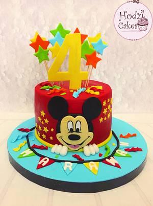 Mickey Mouse Cake💛❤️ - Cake by Hend Taha-HODZI CAKES
