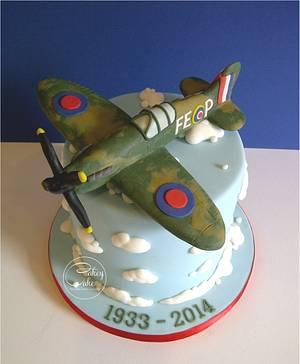 Spitfire Cake for a Wake - Cake by CakeyCake