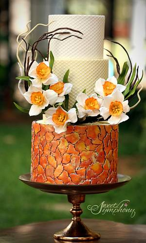 Daffodils Spring themed cake - Cake by Sweet Symphony