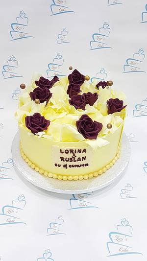 Cake with white chocolate decoration - Cake by Zuzi's cake