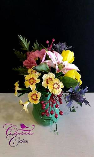 floral bouquet - Cake by Chickadee Cakes - Sara