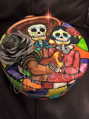 Stained glass Día de muertos  - Cake by Hope Segura