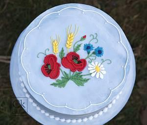 Summer Stitchwork Royal Iced Cake - Cake by Natasha Shomali