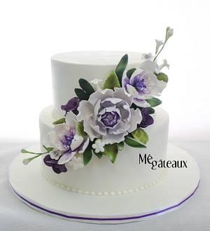 simple floral cake - Cake by Mé Gâteaux