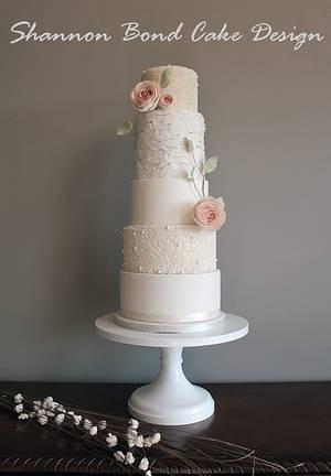 Sweet Romance Wedding Cake - Cake by Shannon Bond Cake Design