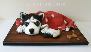 Harley the Husky - Cake by Laura Loukaides