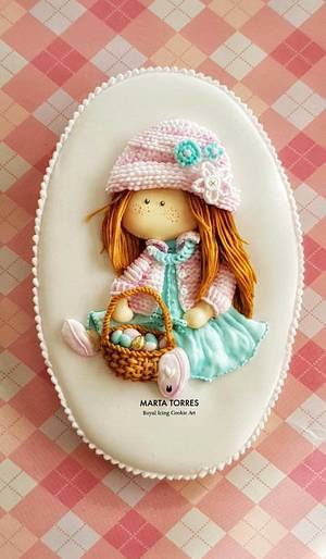 Spring and Easter Girl.... - Cake by The Cookie Lab  by Marta Torres