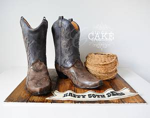 There's a cake in my boots! - Cake by cindyscakecreations