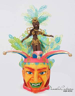 Sweet world Carnival Collaboration Rio de Janeiro sambista - Cake by daniela cabrera