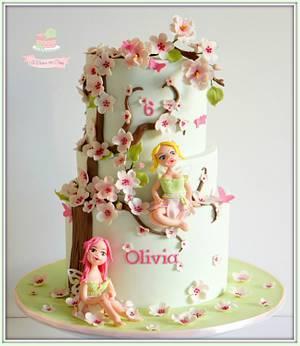 Cherry Blossom Fairies - Cake by Jo Finlayson (Jo Takes the Cake)