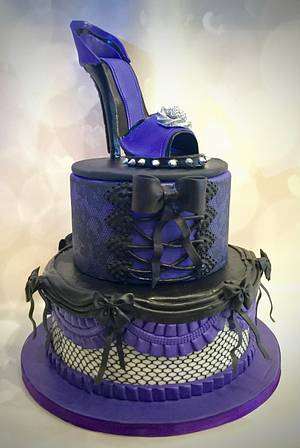 Corset and shoe - Cake by The Elusive Cake Company