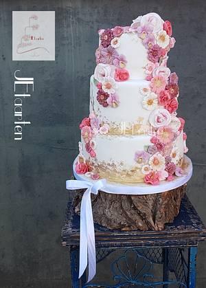 Spring weddingcake - Cake by Judith-JEtaarten