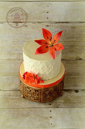 Rustic Lily - Cake by Sugarpatch Cakes