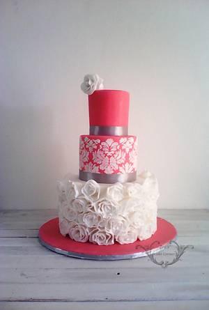 Vintage Wedding Cake  - Cake by Zaafirah Adams  - Zee's Cake Corner