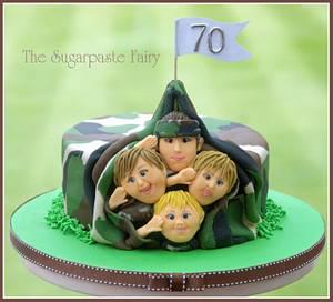 General Granddad - Cake by The Sugarpaste Fairy