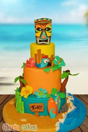 Tiki Cake - Cake by GloriaCakes